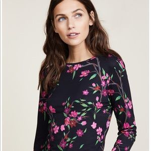 Alice and Olivia long sleeve cropped blouse